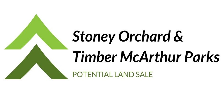 Stoney Orchard/Timber McArthur Parks Potential Land Sale Logo