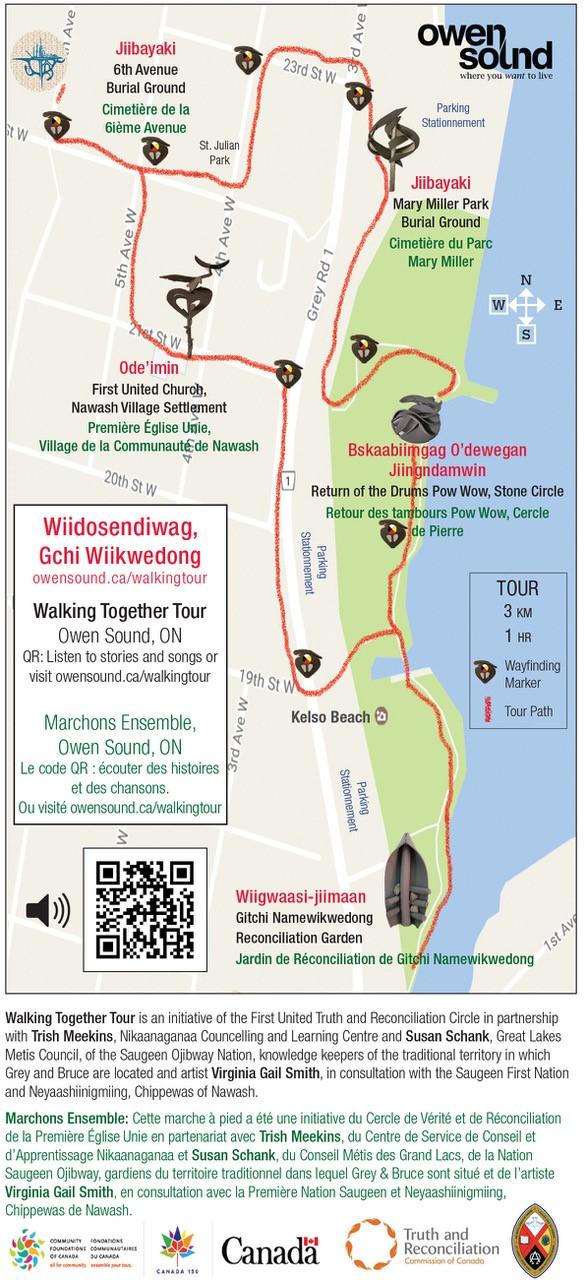 Walking Tour Map Owen Sound